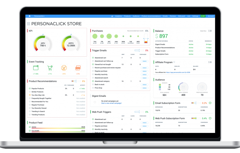PersonaClick - Cloud Marketing Dashboard
